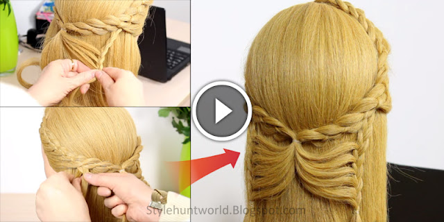 Learn - How To Make Butterfly Braid Hairstyle, See Tutorial