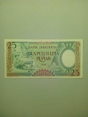 25 rupiah tahun 1958