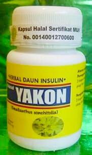 Kapsul YAKON / DAUN INSULIN obat Diabetes dan Kencing Manis