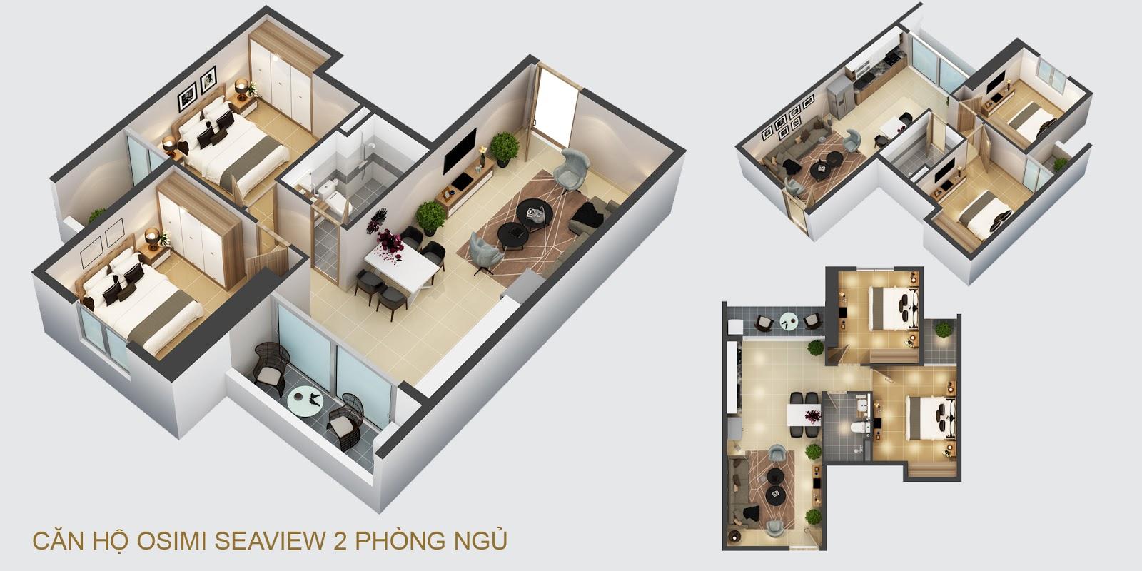 Thiết kế và mặt bằng căn hộ Osimi Seaview Vũng Tàu