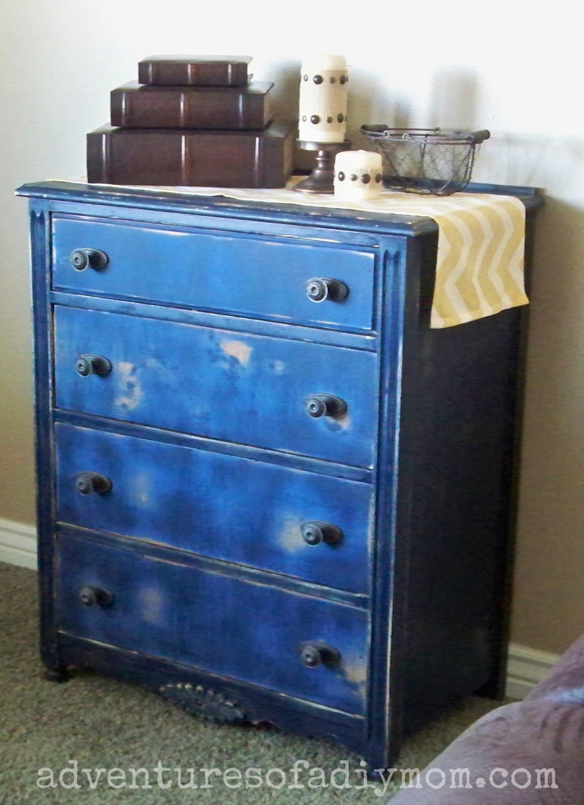 Distressed Blue Dresser Adventures Of A Diy Mom