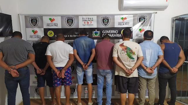 """Ação integrada das forças de seguranças do Sertão do Estado, prenderam 08 pessoas na """"Operação Máchi"""""""
