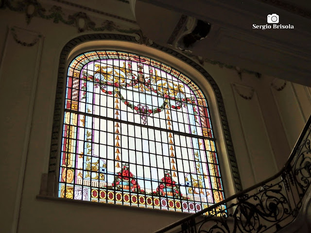 Palacete Basílio Jafet (Vitrais da Escadaria - perspectiva)