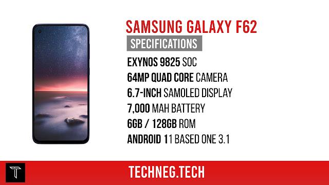 Samsung Galaxy F62 Specifications