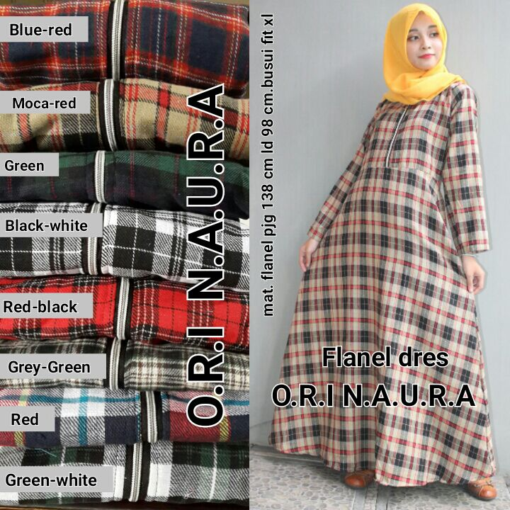 Flanel Dress By Ori Naura