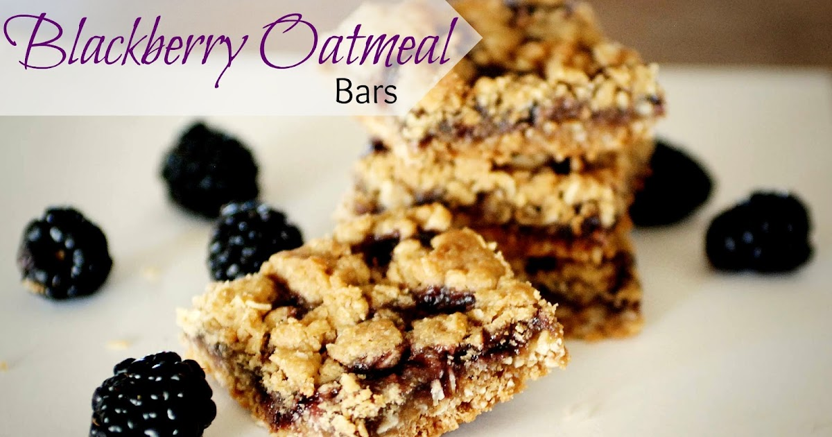 The Moon And Me Gluten Free Blackberry Oatmeal Bars