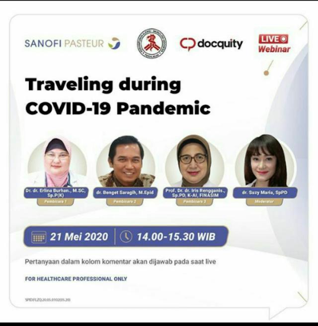 Webinar Traveling During Covid19 Pandemic via Aplikasi Docquity