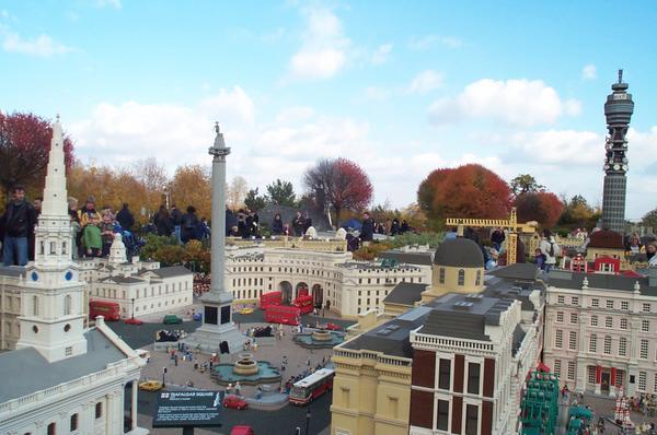 A model of Trafalgar Square, London, in Legoland Windsor