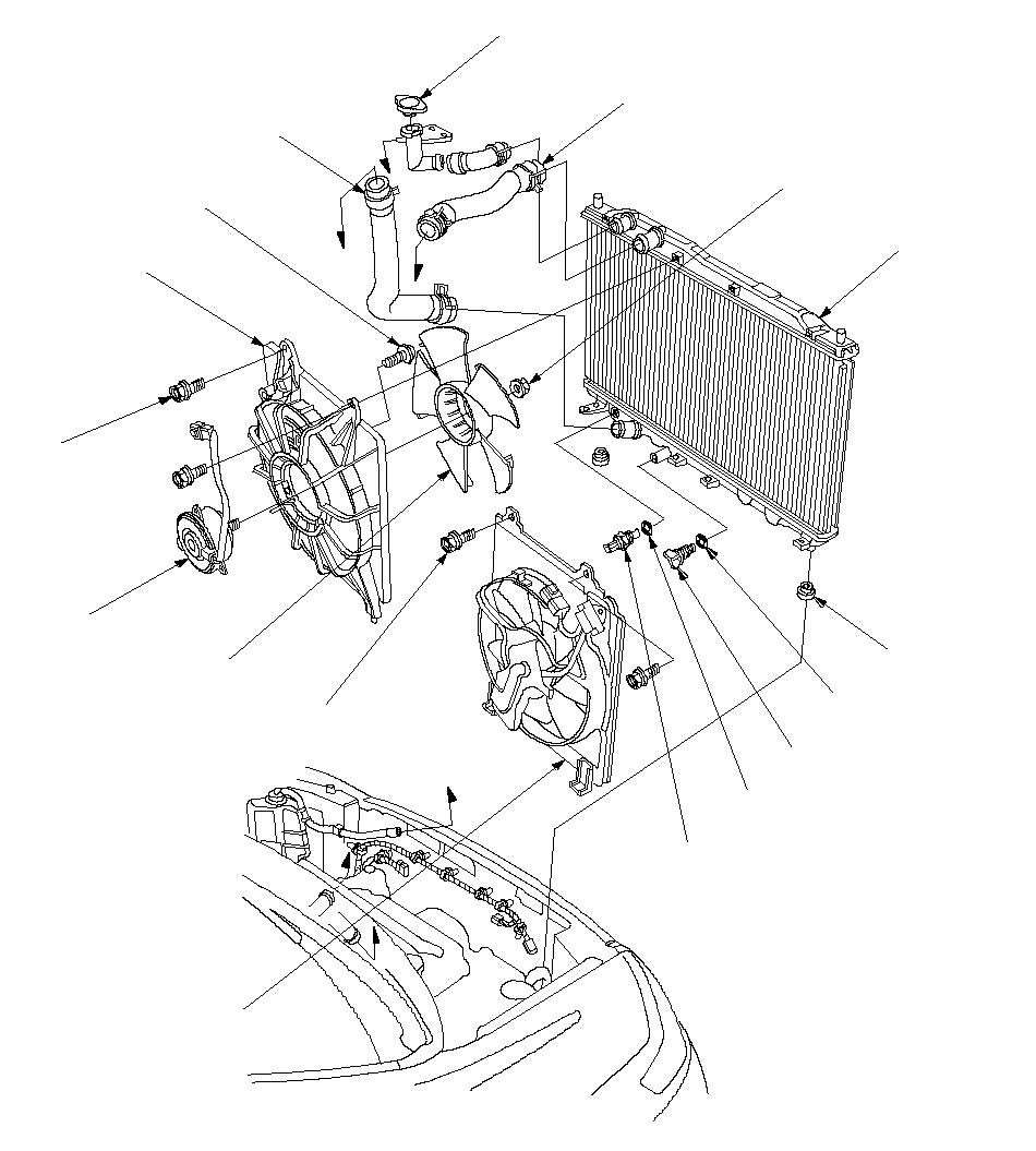 Honda radiator fan direction