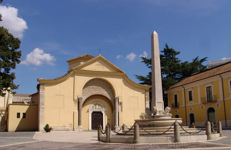 Outside the church of Santa Sannio, in the historic centre of Benevento
