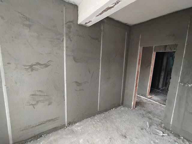 çelik sıva imalatı bitmiş bir oda