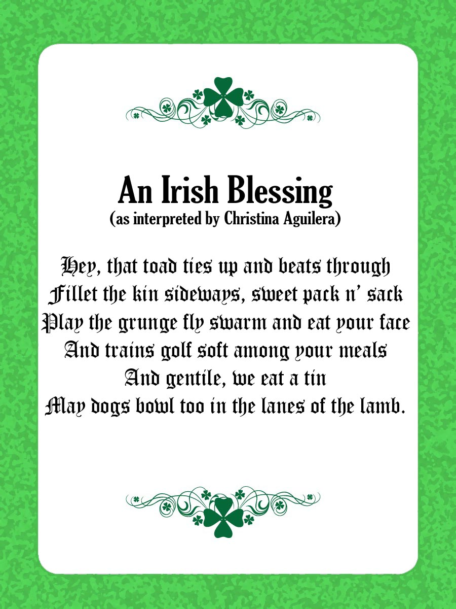 irish prayer may the road rise up to meet you lyrics