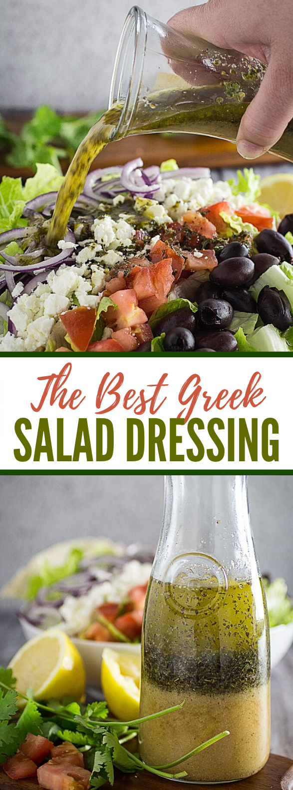 GREEK SALAD DRESSING & GREEK SALAD #vegetarian #veggies