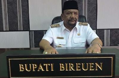 in memoriam Bupati Bireuen Aceh Haji Saifannur meninggal di RS Siloam Medan
