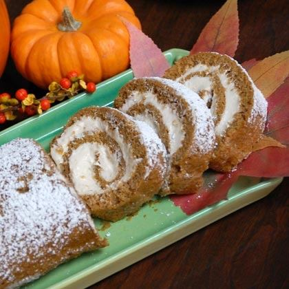 Pumpkin Spiral Cake with Cinnamon Cream Cheese Frosting