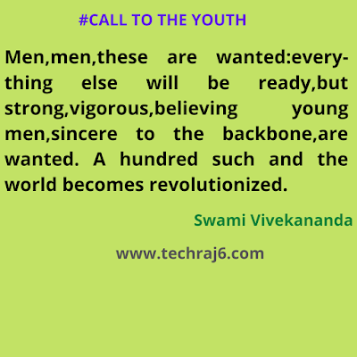 Call To The Youth Quotes By Swami Vivekananda