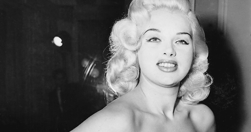 f3398dfe Diana Dors Tries on an Outfit for The Cannes Film Festival, 1956 |  BlueisKewl