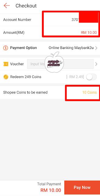 Kelebihan Bayar Bil SESB Online di Shopee