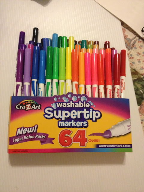 CraZArt Supertip Markers, washable markers, markers like Crayola, cheap markers