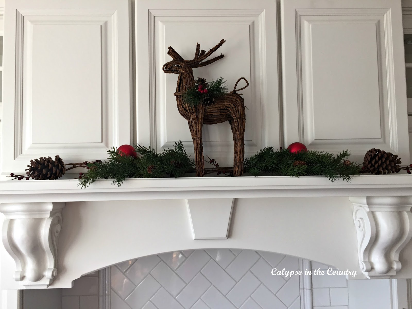 Deer on White Stove Hood