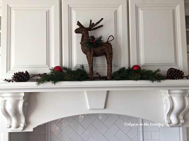 Deer on White Stove Hood