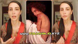 (بالفيديو و صور) ريم البنّا تحتجّ على تزايد ظاهرة الاغتصاب بجسد مجروح وصورة عارية..