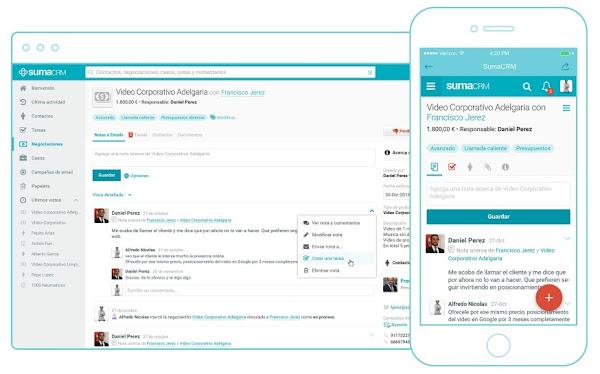SumaCRM, un software CRM en español para Pymes
