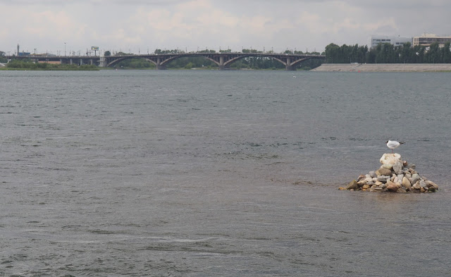 Иркутск, мост через Ангару