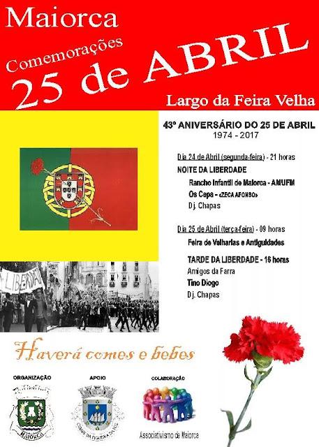 Comemorações do 43º aniversário do 25 a abril