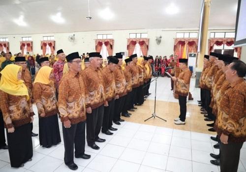 Pengukuhan Pengurus Persatuan Wredatama Republik Indonesia (PWRI) Kabupaten Tanah Bumbu masa bakti 2020-2025