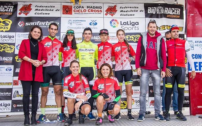 Carlos Hernández y Nadia Lozano triunfaron en el VII ciclocross de Mejorada del Campo