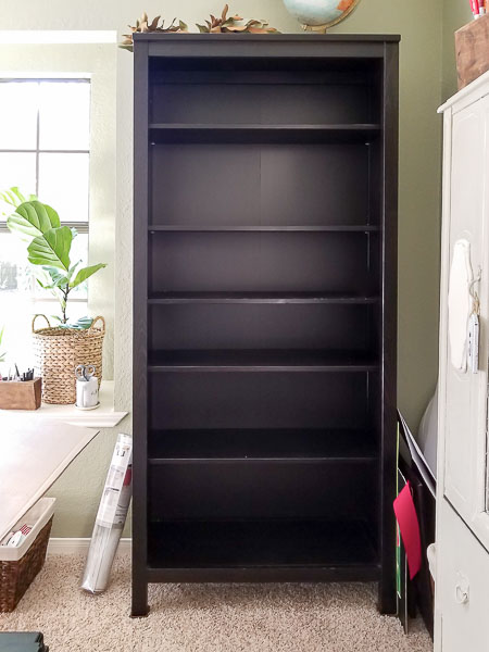 black IKEA bookcase