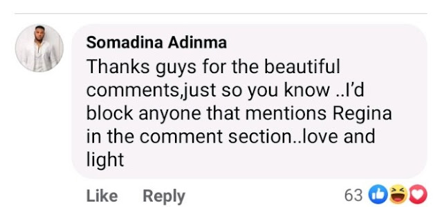 'I Will Block Anyone That Mentions Regina Daniels In My Comment Section' - Somadina Warns His Fans