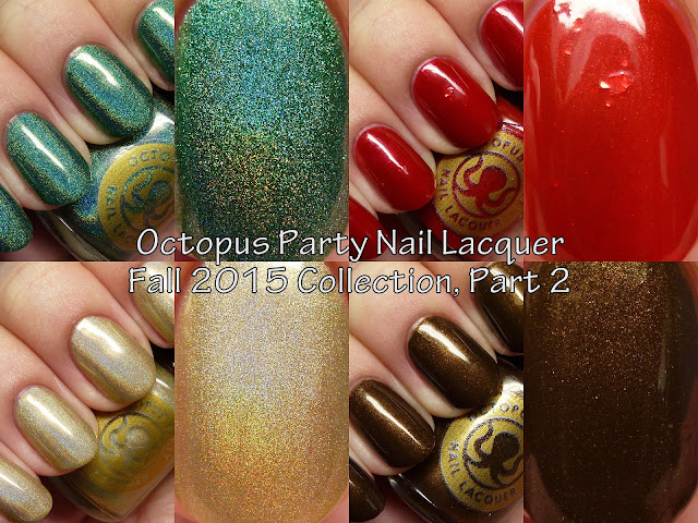 Octopus Party Nail Lacquer Fall 2015 Collection Part 2