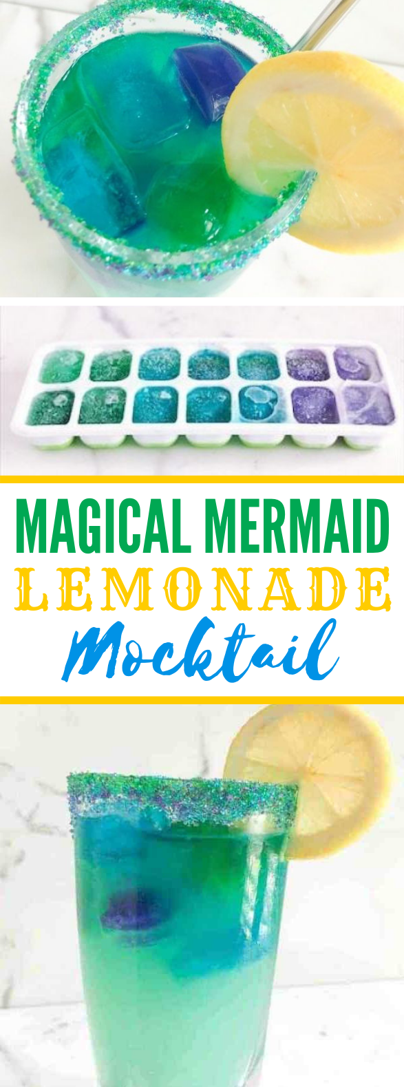 HOW TO MAKE MAGICAL MERMAID LEMONADE – EASY COLORFUL MOCKTAIL #drinks #kiddrinks