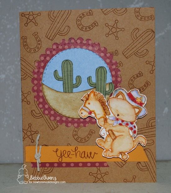 Yee Haw by Debbie features Newton Rides West by Newton's Nook Designs; #newtonsnook