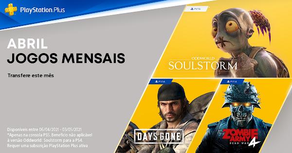 Days Gone TM, Zombie Army 4: Dead War e Oddworld: Soulstorm são os jogos do mês de abril no PlayStation®Plus