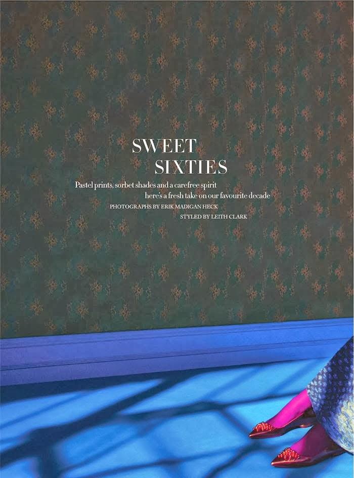 Antonina Vasylchenko In Sweet Sixties By Erik Madigan Heck - Cool Chic Style Fashion