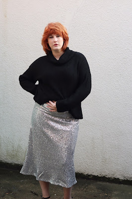 Sequin Skirt and Rollneck