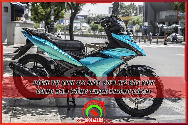 Dịch vụ sơn xe máy Sơn Xe Sài Gòn