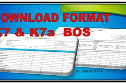 Download Format K7 BOS Format K7a Bos Dan Pendukung Laporan Pertanggungjawaban Bos