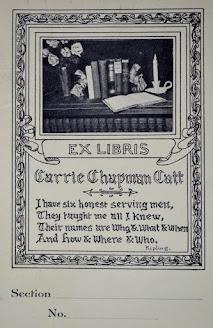 Carrie Chapman Catt Bookplate