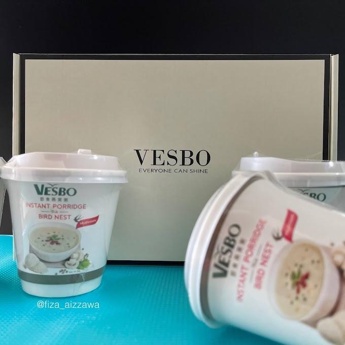 VESBO Instant Bird Nest Porridge, bubur sedap dan berkhasiat