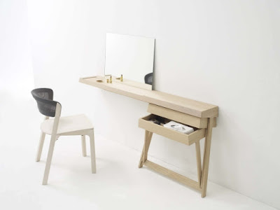 minimalist wooden dressing table design for small bedrooms