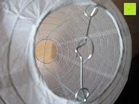 """innen: LIHAO 8"""" weiße runde Papier Laterne Lampion Lampenschirm Hochtzeit Party Dekoration Ballform - (10er Packung)"""