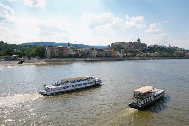 Vista di Budapest dal ponte Elisabetta