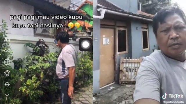 Viral Bapak-bapak Salah Kamera saat Rekam Kupu-Kupu, Langsung Tertawa saat Tahu Hasilnya