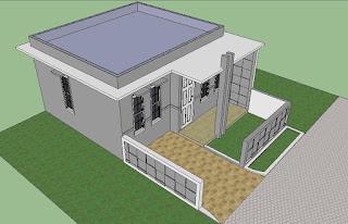 Proses pembuatan dinding rumah minimalis