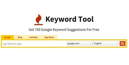Aplikasi Keyword Tool untuk analisa kata kunci