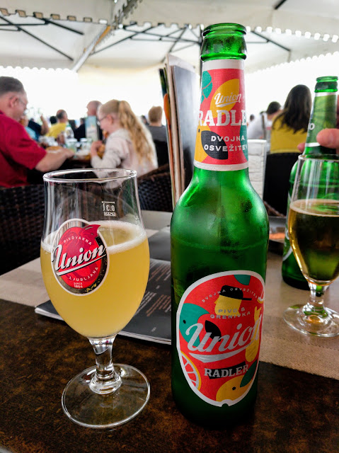 Drink Radler on Tartini Square in Piran on the Slovene Riviera
